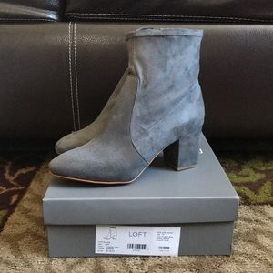 Gray Loft Ankle Booties